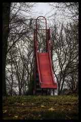 Kid's slide in the park_DSC5973 photoshop NIK edit (nkatesphotography) Tags: playground landscape outdoors scenic