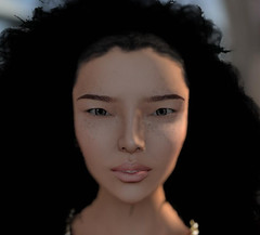 Wearing my latest skin Zi Fu (Okami Aquila) Tags: asian skins skin avatar profile chinese sl secondlife freckles curlyhair myavatar slmodel slskin avatarface