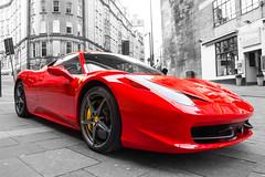 red white black newcastle blurred ferrari sportscar infocus highquality queyside