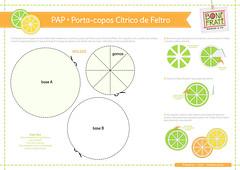 PAP Porta-copos Cítrico de Feltro (com molde) (Ateliê Bonifrati) Tags: cute diy craft felt feltro coaster tutorial pap molde bonifrati portacopos
