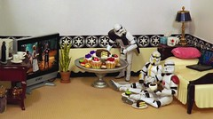 Just Desserts on the Death Star (ChicaD58) Tags: coffee lamp cake dessert actionfigure tv bed laptop tissue pillow donuts stormtrooper movienight coffeemaker shortcake cupandsaucer stb clonetrooper sugarhigh starwarsactionfigure 006b fruittopping stormtrooperbruce tk432 motherinlawtongueplant tk1110