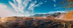 Carson Valley Hot Springs sunrise panoramic (JustinMDworak) Tags: christmas winter mountain david hot sunrise carson photography photo high nikon december d pano nevada panoramic nv genoa f springs valley hd 28 mm nikkor f8 def panaramic pana 3100 walley 2014
