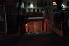 (EYECCD) Tags: street nyc light urban night way garage low sigma boring queens astoria plain dull aly 30mm 550d