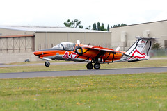 Austrian Air Force Saab 105 in tiger stripes