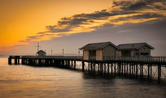 Penarth Pier (technodean2000) Tags: light wales sunrise pier nikon south shed hut penarth lightroom d5300