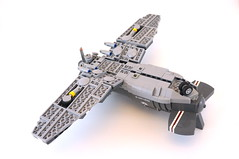 F-06 SkyRazor - bottom (Sylon-tw) Tags: world sky plane airplane wings war lego aircraft military air ii corsair moc skyfi i sylon sylontw skyrazor