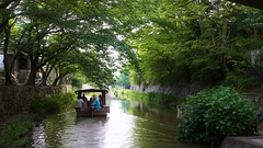Hachimanbori Canal (maco-nonchR) Tags: water boat canal may oldtown biwako oumihachiman