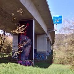 graffiti-loerrach (Kaffeebecher / Streetart / Staubsauger) Tags: bridgegallery graffitigermany graffiti loerrach autobahn