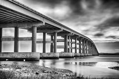 Napa River Bridge (Ron Rothbart) Tags: california longexposure bridge blackandwhite bw water monochrome river waterfront nd vallejo hdr neutraldensityfilter 10stopfilter