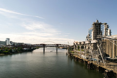 DSC_0138 (pillarsoflight) Tags: bridge blue sky cloud beauty clouds oregon river portland nikon crossing bluesky adobe pdx 1855 across pnw lightroom d3300