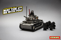 May the 4th - Star Wars Panzer III (kr1minal) Tags: world star war funny force lego wwii may 4th sw wars diorama awaken moc