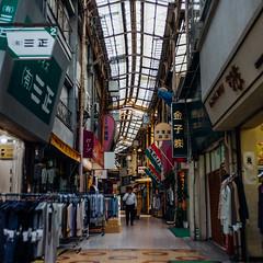 Senigai_05 (Sakak_Flickr) Tags: graffiti gifu nokton shoppingarcade shotengai tonyagai nokton35f14 senitonyagai
