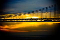 Welcome to Morning (Thomas Hawk) Tags: sanfrancisco california bridge silhouette sunrise fav50 baybridge fav10 fav25 fav100