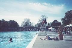 Brockwell Park (cranjam) Tags: uk london film pool lomo lca lomography piscina swimmingpool londra sunbathing lido brockwellpark brockwelllido adox colorimplosion