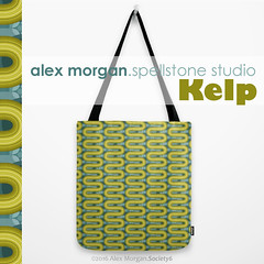 Kelp.tote bag (Spellstone) Tags: ocean sea wallpaper seaweed clock home modern illustration design artist folkart pattern forrest drawing linen craft towel spot surfacedesign textile fabric cotton kelp blanket mug rug environment decal reef tote duvet throw giftwrap totebag 2016 bedset duvetcover fabricdesign alexmorgan spoonflower spellstone society6 fabriccollections