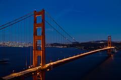Classic Golden Gate Night View (MacCoaster) Tags: sanfrancisco california city bridge us unitedstates goldengatebridge goldengate sausalito hdr