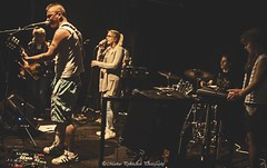 A gig (Markus Pylkknen Photography) Tags: girls shadow summer music playing black boys canon suomi finland singing guitar indoors finnish hmeenlinna verkatehdas canon6d