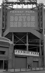 Fenway Park (paulgumbinger) Tags: park red blackandwhite boston 35mm nikon baseball stadium massachusetts extreme sox 100 f3 fenway ultrafine