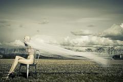 Breeze (Ferdinand Bart Alst - Pixel Your Soul Photography) Tags: art mannequin field norway chair wind blow fabric breeze