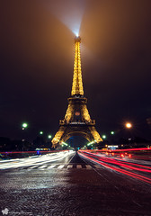 Eiffel Tower (radicalme) Tags: travel lightpainting paris france photography ledefrance eiffel fr lightroom