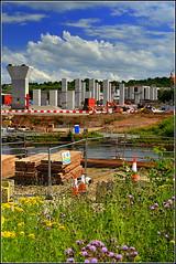 Mersey Gateway Project (Southern approach viaduct  Astmoor / Bridgewater Junction Runcorn) 3rd July 2016 (Cassini2008) Tags: construction runcorn manchestershipcanal merseylink merseygatewayproject