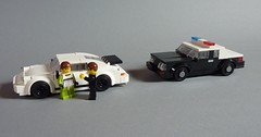 1985 Ford Mustang SSP (MOCs & Stuff) Tags: city ford car town highway lego body police fox mustang gt patrol ssp