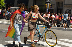 Walking together (EC Stainsby) Tags: street nyc newyorkcity summer usa ny newyork fun outdoor colorfull pride parade east lgbt avenue fifth thirtieth colourfull sunnny