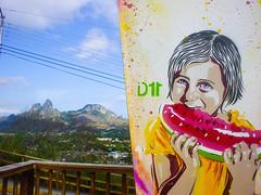 aum (D11 Urbano) Tags: art girl stencil arte venezuela caracas watermelon nia sanjuan urbano venezolano morros arteurbano patilla d11 streetartvenezuela artvenezuela d11streetart arteurbanovenezuela d11art d11urbano