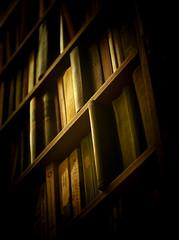 Bookshelf (dkruassan) Tags: wood old light black color green yellow paper reading book nikon library lifestyle bookshelf shelf nikkor d90 indor