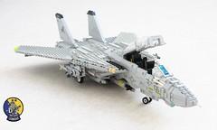 VF-213 Blacklions F-14D 'Bombcat' (Mad physicist) Tags: fighter lego f14 usnavy tomcat grumman supertomcat vf213 blacklions f14d bombcat