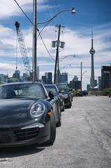Ordnance Street, Toronto   Ontario (William Self) Tags: street summer toronto ontario canada cars construction cntower crane parked development ordnance 2016 sonynex6