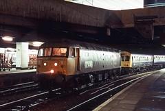 47446, Birmingham New Street, November 1987 (David Rostance) Tags: birmingham railwaystation newstreet dmu class47 class101 47446