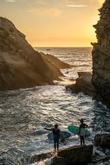 Sunset Surf (Waves Of 64) Tags: sunset de soleil surf waves coucher cte des surfboard vagues biarritz basques