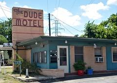 The Dude Motel (Rob Sneed) Tags: sign vintage neon texas motel fortworth tarrantcounty haltomcity thedudemotel belknapstreet