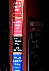Selective parking lot (patrick_milan) Tags: selective parking lot tag moto suzuki harley pub bar portsall