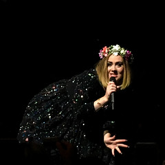 Adele (Maureen Bond) Tags: concert staples adele tuesday blessing excellent music live band singer rockstar solo talking singing perfomance losangeles maureenbond ca soldout iphone