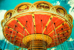 RIde in the Sky (The Mr and The Mrs) Tags: 2014 amusementpark branson carousel exposition june missouri nikon rides silverdollarcity swings wavecarousel kristicreed wwwthemrandthemrscom funfriday hdr aurorahdr macphun