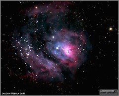 Messier 8  The Lagoon Nebula in the Constellation Sagittarius (Tom Wildoner) Tags: tomwildoner leisurelyscientistcom leisurelyscientist m8 messier lagoonnebula nebula ngc ngc6530 opencluster constellation sagittarius astronomy astrophotography astronomer timelapse stacking meade celestron cgem dss lx90 telescope canon canon6d teamcanon red blue emission space science stars nightsky night