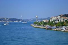 Istanbul / Salacak (serdar') Tags: istanbul constantinople salacak turkey day blue bridge ship sea flickr bosphorus asia europe sky