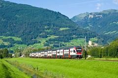 RABe 511.021 SBB, RE 4864, Sargans  Trbbach (cz.fabijan) Tags: railway eleznice train vlak vcarsko schweiz switzerland sbb cff ffs re4864 rabe511 511021 sargans stgallen