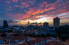 sunset at chinatown,singapore (jaywu429) Tags: sony sonya7r singapore sky skyline sonycamera sunset bluehour buildings lights landscape cityscape chinatown pinnacle duxton sony1635mmf4 zeiss1635mmf4 outdoor singaporecity burning beautiful beauty clouds