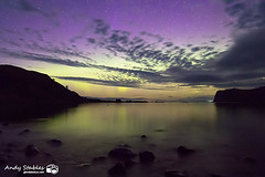 Aurora, Loch Pooltiel, Isle of Skye (Andy Stables) Tags: aurora borealis northern lights loch pooltiel milovaig meanish glendale skye scotland canon 70d
