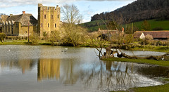 STOKESAY CASTLE (chris .p) Tags: castle stokesay shropshire nikon d610 uk reflection water lake view march 2016 england history