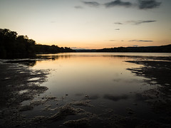 Looking north at low tide (hickamorehackamore) Tags: 2016 ct ctriver canon connecticut connecticutriver haddam haddammeadows fullmoon sandbar statepark summer sunset
