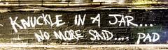 Knuckle (Bob the Binman) Tags: nikon d7100 graffiti london waterloo lambeth grime urban hccc leakestreet padst www londonist