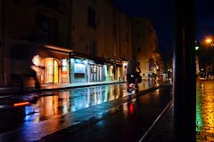 Rainy street of Saint-Tropez (Dominika Ruciska) Tags: streetphoto street nightphoto night rain rainy citylights sainttropez french riviera cte dazur