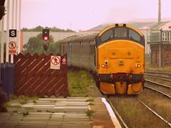 DRS 37403 - Workington (159jim) Tags: station train loco hauled class 37 403 direct rail services mk2 cumbrian coast carlisle barrowinfurness sellafield arriva northern diesel