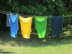 IMG_5704-081116 (octoberblue13) Tags: ithaca ny ecovillage shirts clothesline laundry hanging