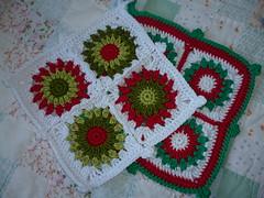 Christmas potholders (Vecilija's Corner) Tags: christmas handmade crochet cotton christmasdecor christmastime potholders heklanje