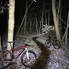 Frozen night de-light #weavercycleworks #custombicycles #rideinthewoods
